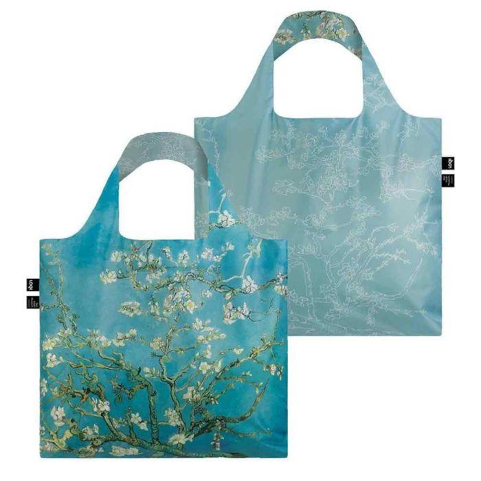 04cac2b6bb Borsa per la spesa colorata e pieghevole Van Gogh Almond Blossom Loqi Gotti  Shop